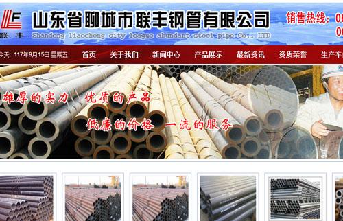 山东省聊城市联丰钢管有限公司_子目录站群系统