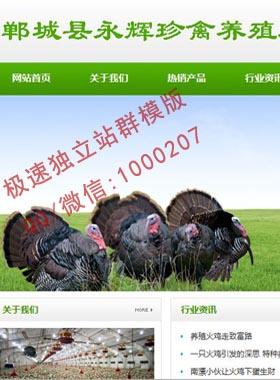 精品农业,农产品,水果,绿色清新站群企业模版,适合SEO百度排名