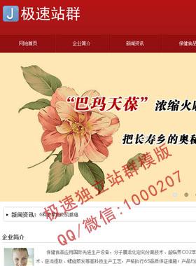 红色大气模版,红色站群模版,适合传统行业,绣花,美食企业网站站群